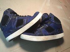 Osiris Shoes Mens SZ Size 8.5 NYC Bronx 83 VULC High Tops lightning strikes blue