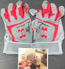 Nolan Gorman St Louis Cardinals Signed 2019 Game Used Batting Gloves 9