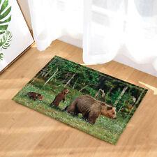 Wild Grizzly Bear On Jungle Floor Rug Carpet Mat Bathroom Home Non-slip Pad Door
