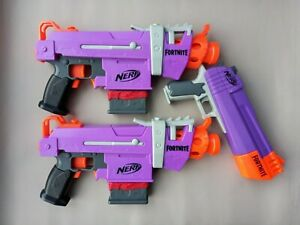 Nerf Fortnite SMG-E Motorised Blaster/Guns Bundle, Job Lot