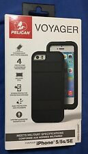 NEW Pelican Progear Voyager Case w/Holster for iPhone 5s / SE / 5  - BLACK