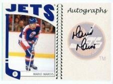 "MARIO MAROIS ""AUTOGRAPH CARD"" ITG FRANCHISES CANADIAN!!!"
