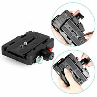Quick Release Plate Adapter for Manfrotto Camera Camcorder Tripod Monopod