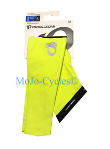 Pearl Izumi Elite Thermal Arm Warmer Medium Large X-Large Black Screaming Yellow