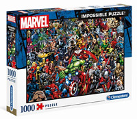 NEW SEALED Clementoni 39411 Marvel Impossible Jigsaw Puzzle 1000 Pieces