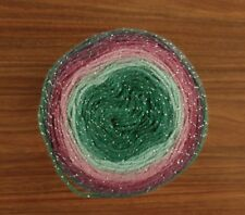 Mint Berry Burst Glitter Cake 150g Silver Sparkle Yarn wool crochet knitting DK