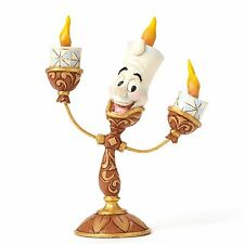 New JIM SHORE DISNEY Figurine BEAUTY AND THE BEAST Candle Statue LUMIERE Quilted