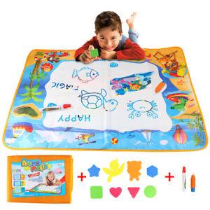 Large Kids Aqua Doodle Water Painting Drawing Mat Board Magic Pens Toy Reusable.