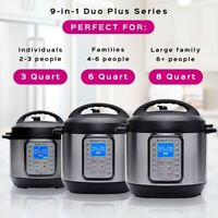 Instant Pot DUO Plus 60, 6 Qt 9-in-1 Multi- Use Programmable Pressure Cooker, Sl