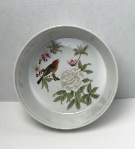 Chinese Garden by Shafford Baking Serving Dish Peonie Flower Butterfly Vintage