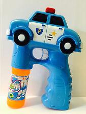 Policía Auto Pistola de burbujas led / Sonido Pompas Fire
