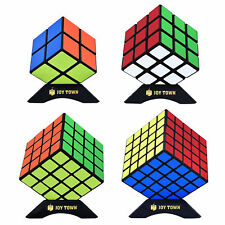 Rubix Cube Set Of 4 Speed Puzzle Magic 2x2 3x3 4x4 5x5 Kids Toy Game Gift Black