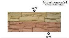 10Stk /1m² Schalungsformen Gips und Beton Gießformen für Wandklinker, Riemchen