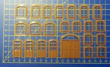 LOT FENETRES  - PORTES - HO -  23 PIECES -  3D PRINTING PLA BRUN