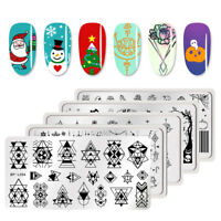 BORN PRETTY Halloween Christmas Theme Nail Art Stamping Plates Nails Templates