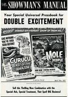 CURUCU & MOLE PEOPLE Combo • Beverly Garland / John Agar • Universal •1956