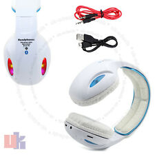 New LED Wireless Bluetooth 4.2 White Headphone Stereo Music Headset Super Bass