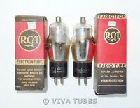 NOS NIB Matched Pair RCA & RCA Radiotron USA Type 34 Vacuum Tubes
