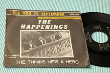 "THE HAPPENINGS 7"" SEE YOU IN SEPTEMBER ORIG ITALY '60 EX"