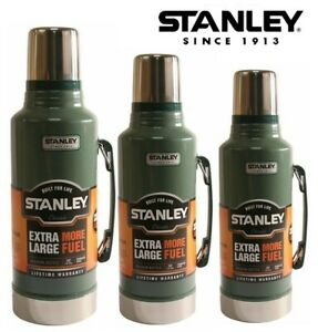 1.0L |1.4L |1.9 LITRE | STANLEY FLASK VACUUM BOTTLE CLASSIC DRINKS THERMOS GREEN