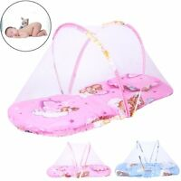 Portable Baby Kids Bed Crib Folding Mosquito Net Infant Cushion Mattress Pillow