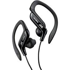 JVC Sports Splash Proof Water Resistant Black Earhook Stereo Earbuds 16-20K Hz