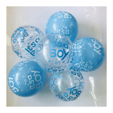 """12 Pack Blue """"It's A Boy"""" Baby Shower Latex Balloons Party Supplies Decor New"""