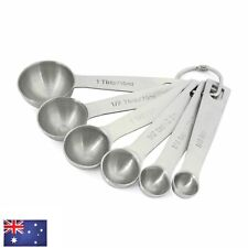 6pc Stainless Steel Measuring Spoons Silver Kitchen Food Baking Tools 0.6-20ml
