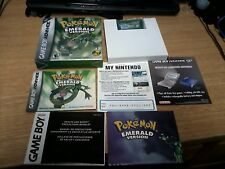 Pokemon Emerald Nintendo Game Boy Advance Box Complete w/ Battle Frontier Tin