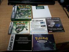 Pokemon Emerald Nintendo Game Boy Advance Box Complete w/ Battle Frontier Tin