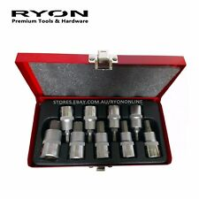 "9PC INHEX Hex Key Allen Key Bit Socket Set 1/2"" Dr. Metric 4-17mm 55mm Long CrV"