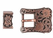 "Dual Cactus Buckle and Keeper Copper Plated for 3/4"" Belts 3425-10"