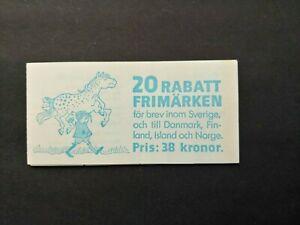 1987 COMPLETE RABAT BOOKLET VF MNH SWEDEN SVERIGE B95.29 START $0.99