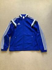 Adidas Tracksuit Top In Blue & White - Size M