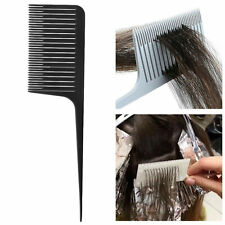 2x Sectioning Weave Highlighting Foiling Hair Comb for Hair Combs Tool Black
