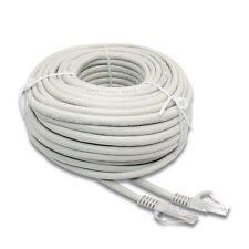 New hosecurity 100ft/roll Rj45-Rj45 Cat5 Ethernet Network White Cable router Pc