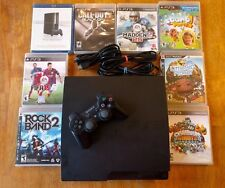 Sony PS3 Slim 320 GB Console with 7 games & controller - Playstation 3 - $2 S/H!