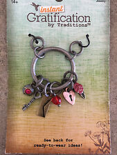 Instant Gratification by Traditions 1 Set Love Themed 6 Charm Pieces