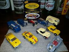 Vintage lindberg car model lot of 11 cars in minty condition