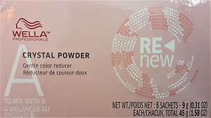 Wella Color ReNew Crystal Powder 5 sachets 0.31 oz / 9 g each vitamin C citric
