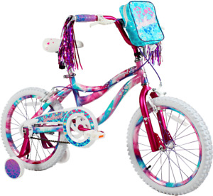 """18"""" Kids Bike Girls 18-inch Wheels Bicycle with Training Wheels Pouch, 3'8"""" and"""