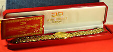 """Jean Perret"" ~7J QJ cal.Eta 955.114 All Gold plated Swiss Bracelet men's watch"