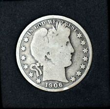 1906-O Barber Half Dollar~90% Silver~VG~Very Good~Combined Shipping~!