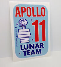 Snoopy APOLLO 11 Lunar Team Vinyl DECAL, Vintage Style Sticker Space 1960's NASA