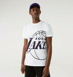 T-SHIRT UOMO NEW ERA OIL SLICK LOGO INFILL DEGLI LA LAKERS- 12720125