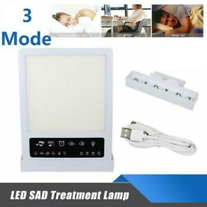 LED Sad Light Therapy Energy Lamp 3 Modes 10,000lux Intensity HappyLight Relief