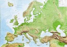 echte 3D Reliefkarte Europa Querformat 39x29cm #100576