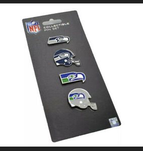 Seattle Seahawks 4 Pin Set Evolution Special Edition Logo   Aminco. NFL