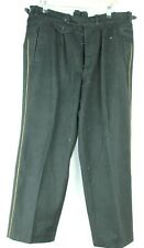 Vintage Men's Black Wool Military/ Naval Trousers with Yellow Piped Side Seams