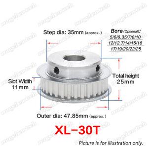 XL30T Timing Belt Pulley Gear Wheel 5-25mm Bore 1/5″ Pitch For 10mm Width Belt